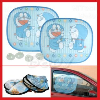 Anime Doraemon Happy Parade Car Auto Window Sun Shade Mesh Sunshade X2