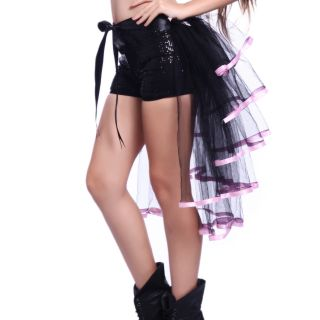 5 Layers Burlesque Bustle Carnival Cocktail Party Costume Tutu Tail Skirt Dress