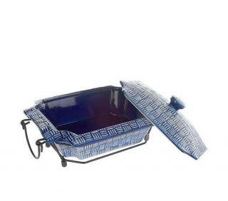 Temp tations Basket Weave 1 5qt Covered Octagonal Baker