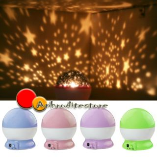 New Rotation Star Sky Romantic Room Light Lamp Night Projector Baby Child Gift