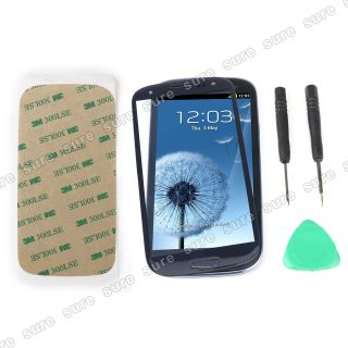 Blue Front Screen Glass Lens Replacement for Samsung Galaxy i9300 SIII S3 Tool