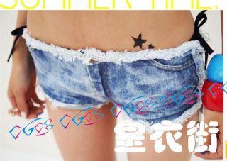 Hot Sexy Girl Woman Nightclub Pole Dancing Summer Cutout Denim Short Jeans Pants