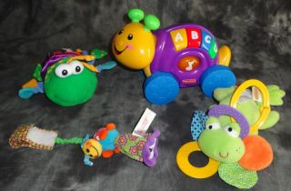 Baby Toy Lot Fisher Price Infantino Musical Vibrating Teether Rattle Sensory