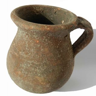 Biblical Ancient Jar Holy Land Roman Clay Pottery Wine Jug Terracotta Vase Pot