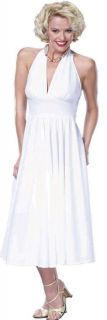 50's Starlet Marilyn Monroe Adult Womens Costume Sexy White Dress Plus XXL XXXL