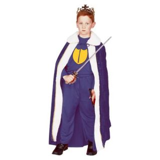 Renaissance King Child Costume Robe Boy Medieval King Cape 90055 Blue Red