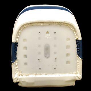 Bayliner Capri Off White Navy Blue Boat Bucket Seat