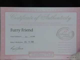 New in Box Lee Middleton Artist Collection My Furry Friend Reva Schick