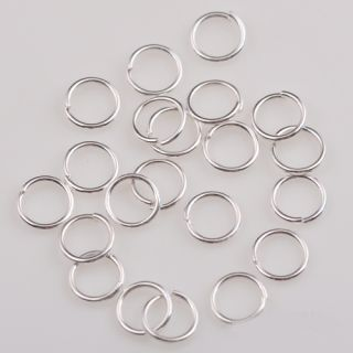 1000pcs Silver Gold Copper Plated Jump Rings 6mm Jewelry Findings Free SHIP