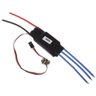 60A Electronic Brushless Motor Speed Controller ESC RC Parts RC Helicopter New