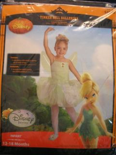 Walt Disney Tinkerbell Halloween Costume Peter Pan 12 18 Months MO New