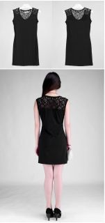 Sexy Ladies Womens Lace Shoulder Slim Fit Bodycon Party Club Dress