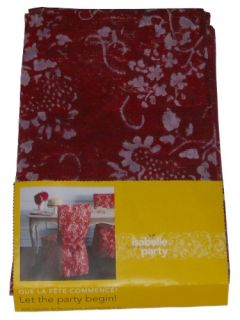Isabelle de Borchgrave Red Dining Room Chair Cover Pair Disposable Paper 2 Cover