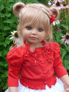 "New Debbie Monika Peter Leicht Masterpiece Doll 32 "" Blonde Hair Blue Eyes"
