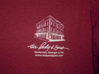The Lady and Sons Paula Deen Restaurant Savannah Georgia T Shirt L Hey Ya'Ll