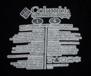 Columbia Offshore World Tour Fishing Tournament Casual T Shirt L Nav Y