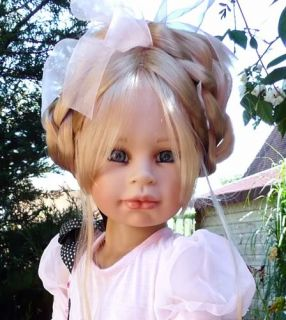"New Tabitha Susan Lippl Masterpiece Doll 38"" Blonde Hair Blue Eyes"