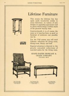 1916 Ad Furniture Bench Grand Rapids Bookcase Chair Co Original Advertising