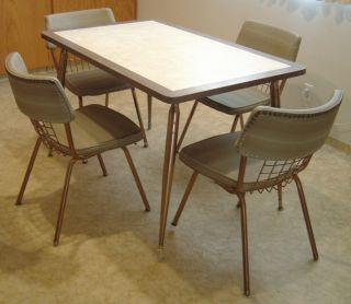 Retro 1950 S Vtg Chrome Formica Table 6 Chairs Kitchen