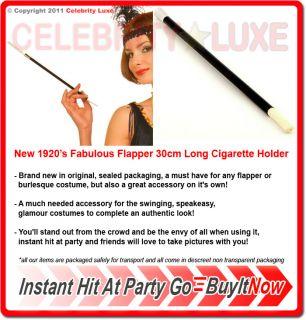New 30cm Long Cigarette Holder 20s Flapper Gangster Burlesque Black Smoking Pipe