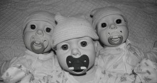 Lot Three 3 Vintage Hasbro Real Baby Dolls Reborn or Play Big Layette Wardrobe