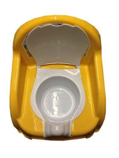 Plastic Child Potty Training Toilet Seat Chair with Removable Potty Lid Yellow