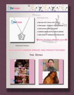 Korean Drama Boys Over Before Flowers F4 Kissing Star Moon Necklace Lee MIN HO