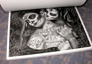 Con Safos Boog Gangster Tattoo Book Gun Kit Needles Machine Ink Flash Vialetto