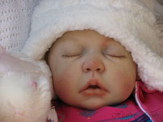 Heathers Cherubs Reborn Painted Hair Baby Doll Chloe No Reserve