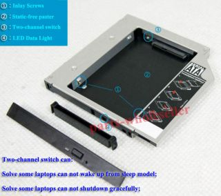 2nd 12 7mm SATA HDD Hard Drive Caddy Adapter for Asus K43SJ Replace Dvdram GT34N