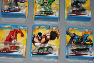 Hot Wheels DC Universe Comics Cars Lot Batman Superman Bane Two Face Flash Joker