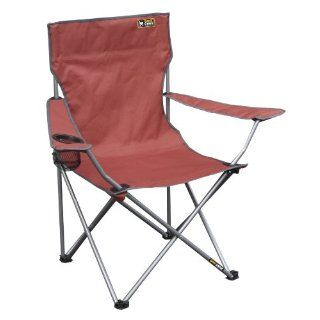 New Red Quick Folding Chair Quad w Carrying Bag Bright Portable Beach Camping