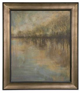Winter Glow Large Oil Painting Reproduction Framed Home Wall Art Decor