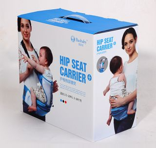New in Box Blue Hot Baby Carrier Toddler Backpack Hip Seat Carrier 3 38 Months