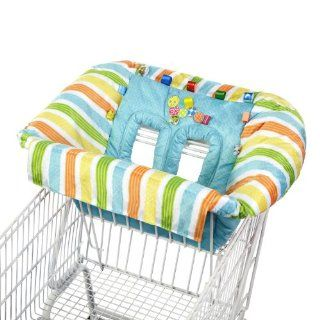 New Taggies Perfect Cozy Baby Protective Grocery Shopping Cart Seat Cover Blue