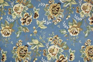 Upholstery Fabric Dovile Powder Blue Suede Floral Upholstery Fabric
