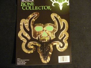 "Bone Collector Auto Decal 5 5"" x 6"" Camo Chomes Black Buck Head Skull"