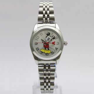 New Cartoon Round Case Disney Mickey Mouse MCK807 Women's Quartz Wrist Watch