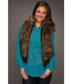 Zip Front Bomber Faux Fur Vest $18.00 ( 80% off MSRP $90.00