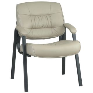 Tan Leather Guest Visitors Waiting Room Office Chair