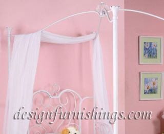 Canopy Bedroom Princess Bed Youth Twin Carriage Style