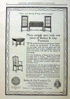 1914 Berkey Gay Furniture Grand Rapids Michigan Ad