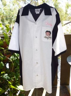 Betty Boop Bowling Shirt 50's Diner Poodle Skirt Soda Print Halloween Costume 3X
