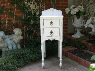 Beautiful Shabby Princess White Nightstands Chic Beach Baby Cottage Furniture