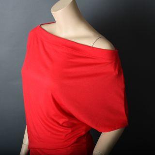 Womens Party Boat Neck Asymmetric Off Shoulder Blouson Long Maxi Dress Sz s M L