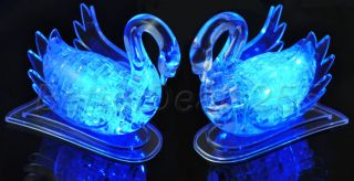 3D Crystal Swan Decoration Jigsaw Puzzle Gadget Toy New