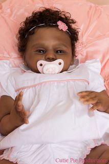"Reborn AA Ethnic African American Baby Girl ""Addison"" Prototype 1 2 by J Lynn"