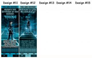 Tron Birthday Party Ticket Invitations Supplies Favors