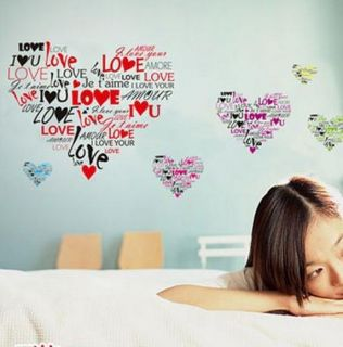 Hot Vinyl Love Life Quote Wall Sticker Decal Home Kid Room Decor DIY Removable