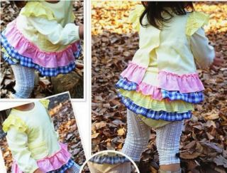 Girls Baby Clothing Ruffle Top Pants T Shirt S0 3Y 3 Piece Sets Outfits Lovely